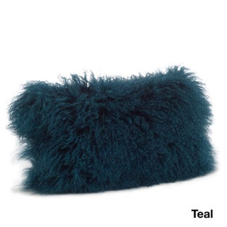 Mongolian Lamb Fur Lumbar Throw Pillow (More options available)