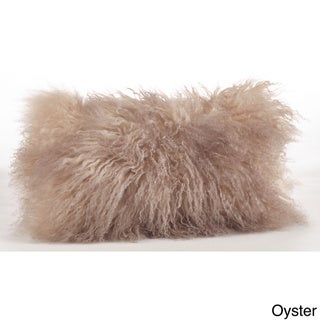 """Mongolian Lamb Fur Throw Pillow 20"""" x 12"""""""