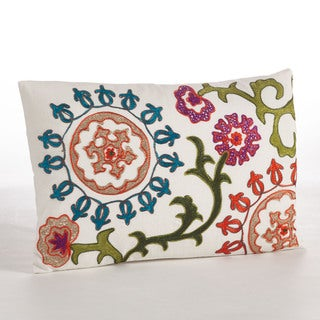 Embroidered Design Throw Pillow