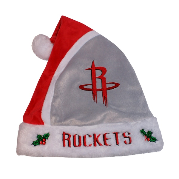 Forever Collectibles Los Houston Rockets 2015 NBA Polyester Santa Hat