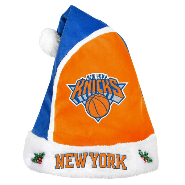 Forever Collectibles Los New York Knicks 2015 NBA Polyester Santa Hat