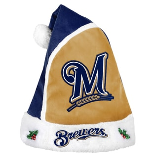 Forever Collectibles Milwaukee Brewers 2015 MLB Polyester Santa Hat