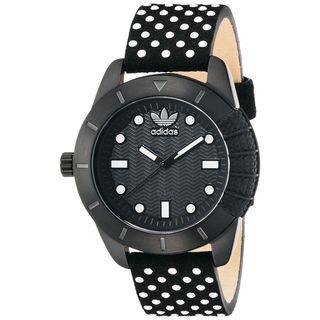 Adidas Women's ADH3053 'ADH-1969' Black Leather Watch