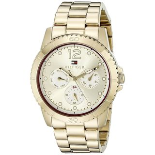 Tommy Hilfiger Women's 1781583 Multi-Function Gold-Tone Stainless Steel Watch