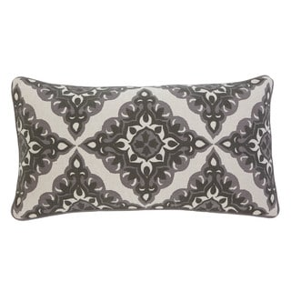 Geometric Gray Throw Pillow