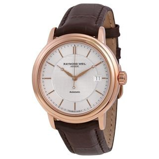 Raymond Weil Men's 2837-PC5-65001 'Maestro' Automatic Brown Leather Watch