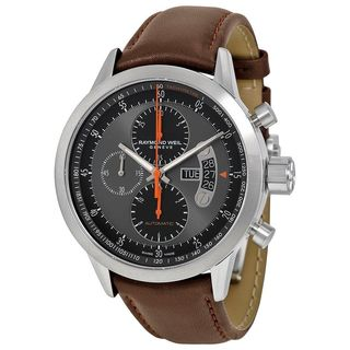Raymond Weil Men's 7745-TIC-05609 'Freelancer' Chronograph Automatic Brown Leather Watch