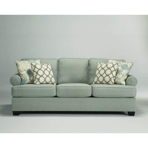 Shop Signature Design By Ashley Daystar Seafoam Sofa