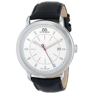 88 Rue Du Rhone Men's 87WA120036 'Double 8' Black Leather Watch