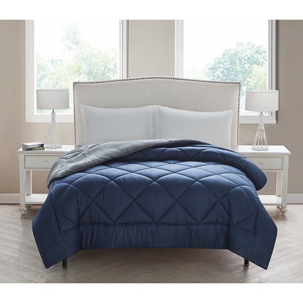 VCNY Kyle Checkerboard Plush Reversible Comforter