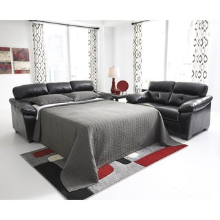 Signature Design by Ashley Bastrop Durablend Midnight Full Sofa Sleeper