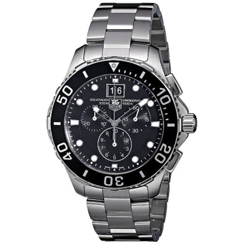 Tag Heuer Men's CAN1010.BA0821 'Aquaracer' Chronograph Stainless Steel Watch