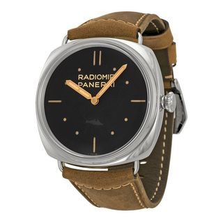 Panerai Men's PAM00425 'Radiomir SLC' 3 Days Hand Wind Brown Leather Watch