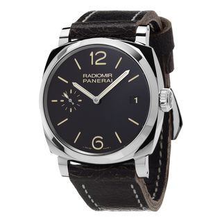 Panerai Men's PAM00514 'Radiomir 1940 Acciaio' 3 Days Hand Wind Black Leather Watch