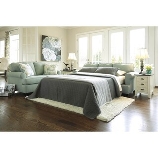 Signature Design by Ashley Daystar Seafoam Queen Sofa Sleeper