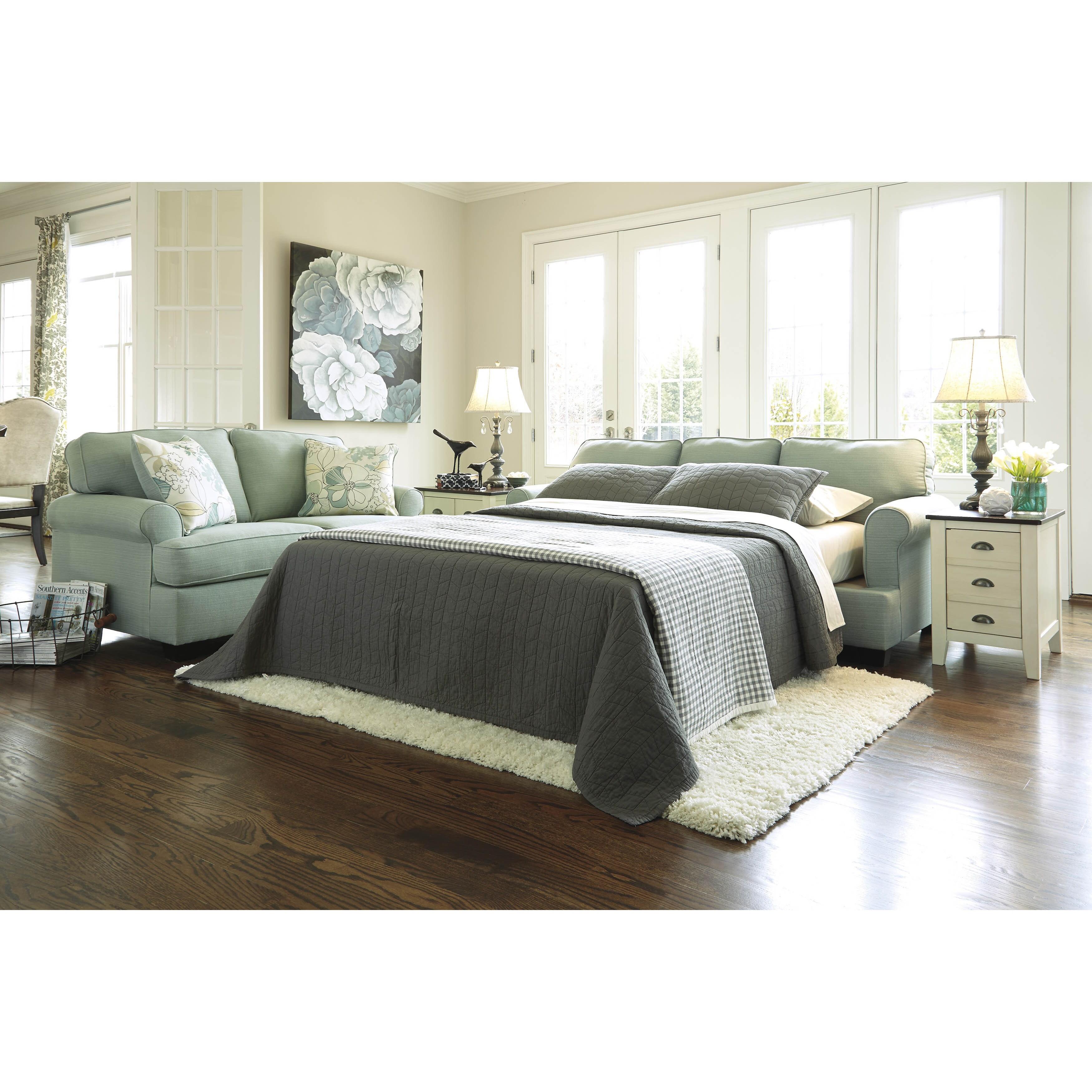 Surprising Signature Design By Ashley Daystar Seafoam Queen Sofa Sleeper Cjindustries Chair Design For Home Cjindustriesco