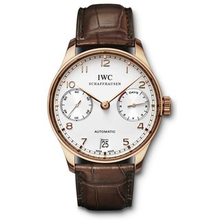 IWC Men's IW500113 'Portuguese' Automatic Chronograph Brown Leather Watch