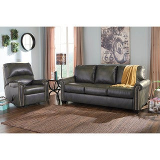 Signature Design By Ashley Lottie Durablend Slate Queen Sofa Sleeper  (Option: Sleeper Sofa)