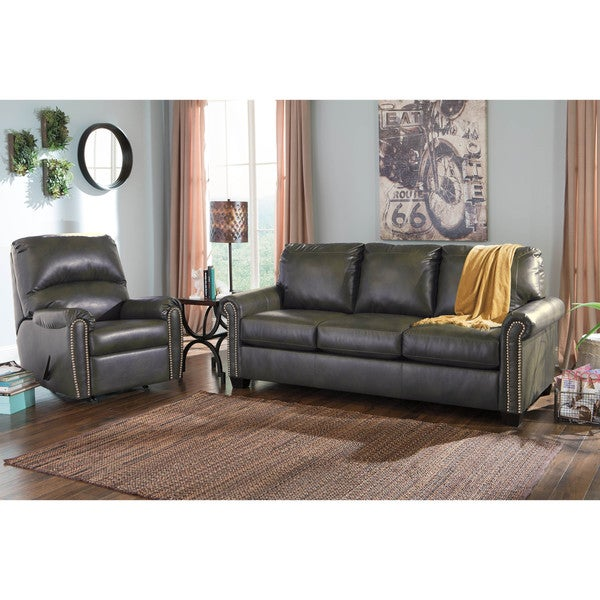 Signature Design by Ashley Lottie Durablend Slate Queen Sofa Sleeper