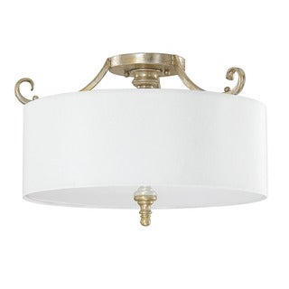 Austin Allen & Company Ansley Park Collection 3-light Iced Gold Semi Flush Mount
