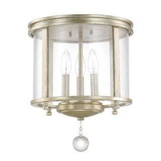 Austin Allen & Company Monroe Collection 3-light Iced Gold Flush Mount