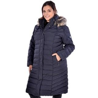 Nuage Women's Plus Size 'Provence' Long Coat