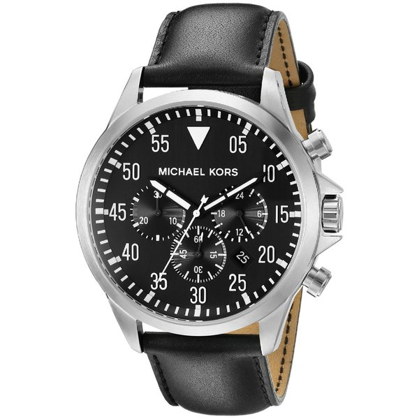 Shop Michael Kors Men S Mk8442 Gage Chronograph Black