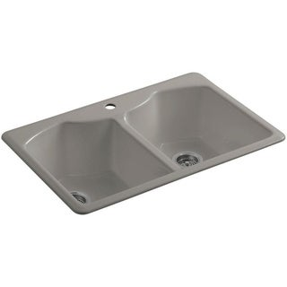 Kohler Bellegrove Top-Mount Cast Iron 33 inch Double Bowl Kitchen Sink