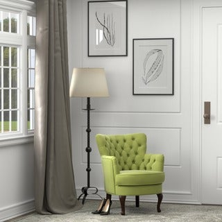 Portfolio Priscilla Petite Spring Green Velvet Arm Chair