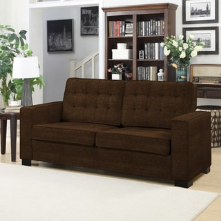 Handy Living Adaira Chocolate Brown Chenille SoFast Sofa