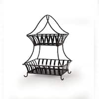 Gourmet Basics Bristol 2 Tier Basket Antique