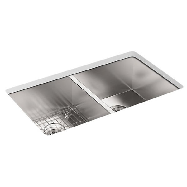 ... Rimming/Undercounter Stainless Steel 33x22x9.3125 3-Hole Kitchen Sink