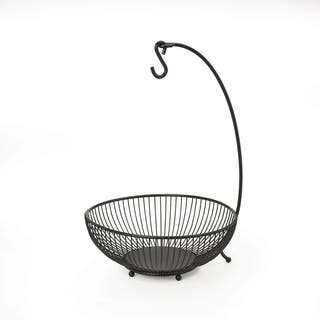 Gourmet Basics Spindle 2 Tier Basket With Banana Hook|https://ak1.ostkcdn.com/images/products/10694414/P17756408.jpg?impolicy=medium