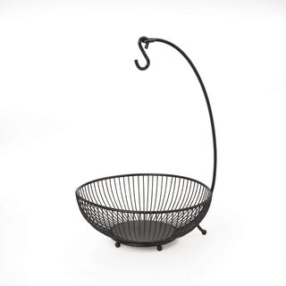 Mikasa Gourmet Basics Black Spindle 2-tier Basket with Banana Hook