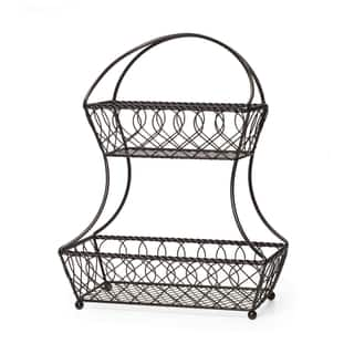 Gourmet Basics 2 Tier Flatback Basket Loop Lattice Wire|https://ak1.ostkcdn.com/images/products/10694416/P17756409.jpg?impolicy=medium