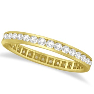 14k Gold 1.00ct Channel Set Diamond Eternity Ring Band