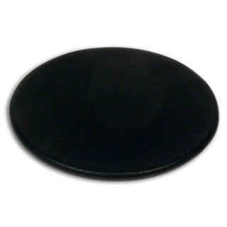 Classic Black Leather Round Coaster