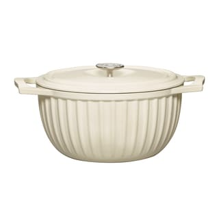 Gourmet Basics Countryside 5.5 Quart Dutch Oven Cream