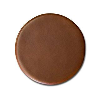 Rustic Brown Leather 4 Round Coaster