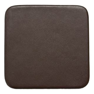 Chocolate Brown Leather Square Coaster