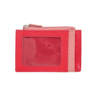 Vicenzo Leather Giselle Smart Essentials Ladies Leather Wallet Credit Card Holder