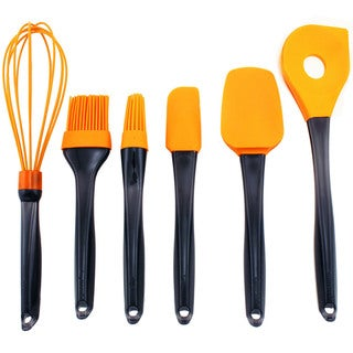 Geminis 6-piece Silicone Orange Utensil Set