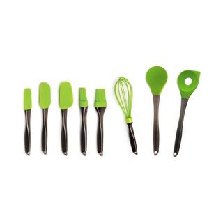 Geminis 8-piece Silicone Green Utensil Set