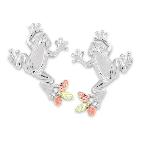Black Hills Gold on Silver Frog Earrings