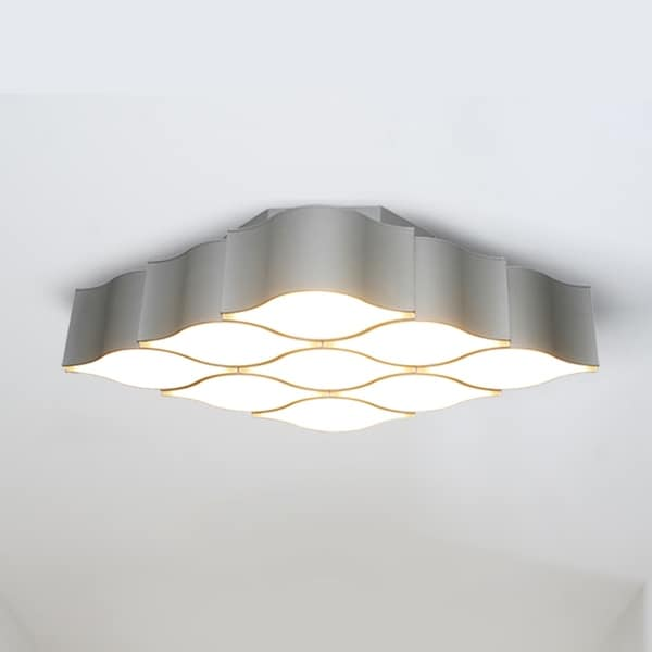 Vonn lighting asellus vmcf41429al 19 inch diamond honeycomb led ceiling fixture in silver