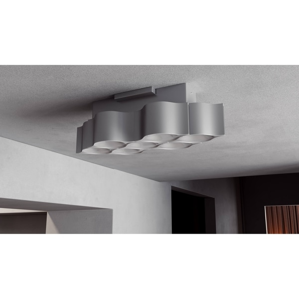 Vonn lighting vmcf41417al asellus 19 inch led hourglass honeycomb ceiling fixture in silver