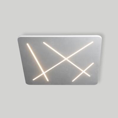VONN Lighting VMCF41200AL Tureis 18-inch LED Brushstroke Ceiling Fixture in Silver