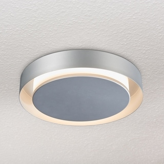 VONN Lighting Talitha 16-inch LED Satin Nickel Circular Ceiling Fixture