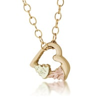 Black hills gold leaf pendant free shipping on orders over 45 black hills gold heart pendant aloadofball Choice Image