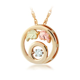 Black Hills 12k Tri-color Gold Twinkle Diamond Accent Pendant